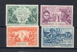 !!! PRIX FIXE : COTE FRANCAISE DES SOMALIS, SERIE N°137/140 NEUVE ** - Côte Française Des Somalis (1894-1967)