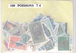 TIMBRE(POISSON) VRAC DE 100 - Poissons