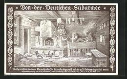 AK Von Der Deutschen Südarmee, Ruthenenstube In Einem Karpathendorf - Zonder Classificatie