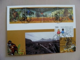 Sale! Post Card Uno United Nations Mixed Stamps Wien Germany Special Cancels 1993 Animals Monkeys Owl Birds Vulcan - Centre International De Vienne