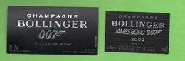 Champagne   BOLLINGER  James  BOND  2002, 2009 - Champagne