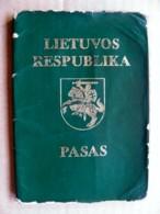 Passport Lithuania 1993 Visa Cancels Belarus Uzbekistan Expired - Historical Documents