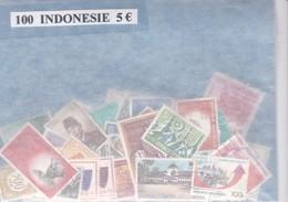 TIMBRE(INDONESIE) VRAC DE 100 - Indonésie
