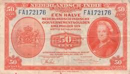 NEDERLANDSCH INDIE - 50 CENTS 1943 Used //BN137 - Indie Olandesi