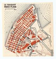 CARTE PLAN 1960 - LE TOUQUET PARIS PLAGE - CASINO DE LA PLAGE CASINO TENNIS PISCINE MARITIME PHARE DE LA CANCHE - Topographische Karten