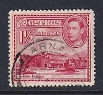 Cyprus: 1938/51   KGVI   SG155   1½pi  Carmine   Used - Cyprus (...-1960)