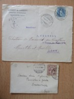 Suisse - 2 Enveloppes Circulées En 1897 Et 1904 - Timbres YT N°65 Et 73 (armoiries 5c / Helvetia Debout 25c) - 1882-1906 Armoiries, Helvetia Debout & UPU