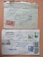 Espagne - 2 Enveloppes Dont Un Recommandé De 1900 (Certificada) Et Un Autre De 1949 - Espagne