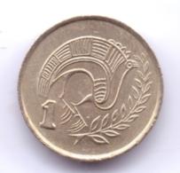 CYPRUS 1990: 1 Cent, KM 53.2 - Chypre