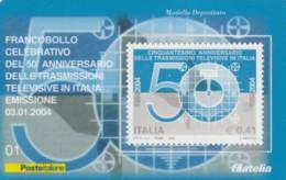 TESSERA FILATELICA TRASMISSIONI TELEVISIVE VALORE 0,41 ANNO 2002 (TF479 - 6. 1946-.. Republic