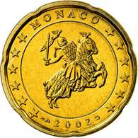 Monaco, 20 Euro Cent, 2002, SUP, Laiton, KM:171 - Monaco