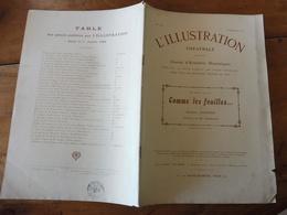 1909 L'illustration Théâtrale  -  COMME LES FEUILLES  Par Giuseppe Giacosa  (traduction De Mlle Darsenne) - Théâtre