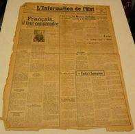 L'information De L'Est Du 30 Juillet 1943.(chantier De Jeunesse-Waffen) - Revues & Journaux