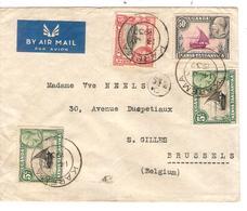 REF1215/ Uganda Kenya Tanganika Air Mail Cover C.Karema 14/7/1937 > Brussels Brussels Via Kigoma & Paris Scarce - Kenya, Oeganda & Tanganyika