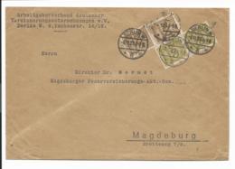 DR 323, 324  MiF  - 1,4 Mia Mk Infla - Geschäftsbrief  - Am 8.11.23  Von Berlin Nach Magdeburg Verwendet - Germania