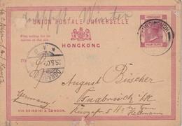 HONG KONG 1902  ENTIER POSTAL/GANZSACHE/POSTAL STATIONARY CARTE POUR OSNABRÜCK - Postal Stationery