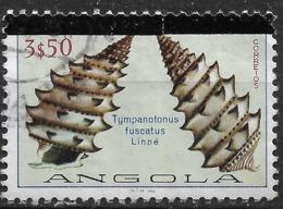 Angola – 1981 Shells 3$50 Broken Bar Variety Used Stamp - Angola