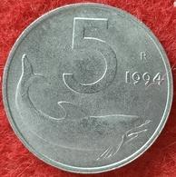 REPUBBLICA ITALIANA - 5 LIRE DELFINO  1994 CONSERVAZIONE FDC - 5 Lire
