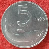REPUBBLICA ITALIANA - 5 LIRE DELFINO  1995 CONSERVAZIONE FDC - 5 Lire