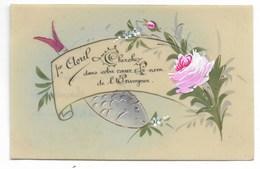 """Carte Fantaisie Celluloïd Peinte """"1er Avril""""... - 1er Avril - Poisson D'avril"""