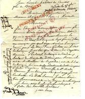 1820 Camaret  =>Brest Commissaire Des Classes Marine Inde Indes Compagnie Capitaine Ridoret Bordeaux & Douville St Malo - Documents Historiques