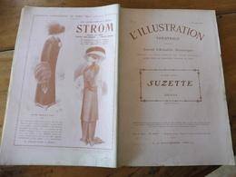 1909 L'illustration Théâtrale  -  SUZETTE  Par Brieux   -pub Au Dos  STRÖM (nouveautés De Paris) - Theatre