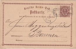 ALLEMAGNE 1873  ENTIER POSTAL/GANZSACHE/POSTAL STATIONARY CARTE DE KÖNIGSBERG - Deutschland