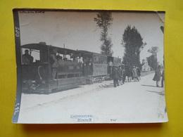 Photo T I V , Tramway En Gare ,  Train D'Inspection En Ligne, Photo Guittet - Trains
