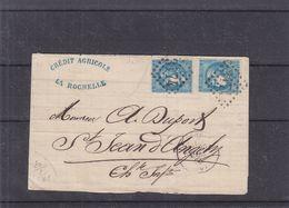 France -lettre Partielle De 1871 - Oblit La Rochelle - 2 X 4 Marges - Valeur Timbres Oblit = 200 € - Sur Document +++ - 1870 Emissione Di Bordeaux