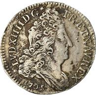 Monnaie, France, Louis XIV, 10 Sols Aux Insignes, 10 Sols-1/8 Ecu, 1705, Lyon - 1643-1715 Louis XIV Le Grand