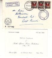 Afrique Du Sud - Lettre De 1962 - Oblit Cape Town Paquebot - Cachet Tristan Da Cunha - Resettlement Survey 1962 - Afrique Du Sud (1961-...)