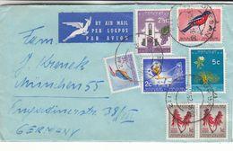 Afrique Du Sud - Lettre De 1962 - Oblit Burban - Oiseaux - Fleurs - - Afrique Du Sud (1961-...)