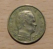 MONACO Rainier III Lot De 5 Piècesde 10 Centimes 1962 - 75 - 76 - 77 - 78 - 1960-2001 Nouveaux Francs