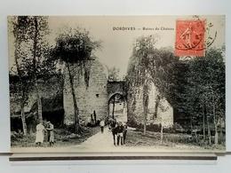 45 - DORDIVES - RUINES DU CHATEAU - ANIMÉE - CHEVAL -  Ed GILTET GARREAN - TRES BEL ETAT - Dordives