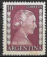 1952 - ARGENTINA - Michel 593 - Y&T 519 [Eva Perón - */MH] - Argentina