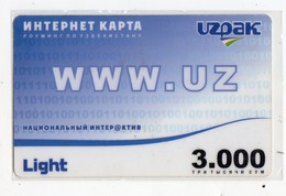 OUZBEKISTAN RECHARGE INTERNET Date 2006 - Uzbekistan