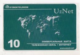 OUZBEKISTAN RECHARGE INTERNET UZNET Date 2003 Planisphere - Uzbekistan