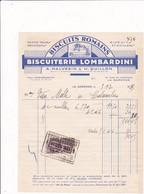 "92-A.Malvesin & H.Guillon .Biscuiterie Lombardini.."" Biscuits Romains ""..La Garenne-Colombes...(Hauts-de-Seine)..1935 - Alimentaire"