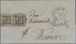 Bremen - Thurn & Taxis'sches Oberpostamt: 1860, ⅓ Gr. Schwarz Auf Braunocker, Farbfrisches Waagerech - Bremen