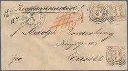 Bremen - Thurn & Taxis'sches Oberpostamt: 1866, 3 Sgr. Ockerbraun Farblos Durchstochen, Drei Farbfri - Bremen