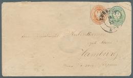 """Lübeck - Marken Und Briefe: 1864, 1 Schilling Orange Durchstochen """"10"""" Als Zusatzfrankatur Auf GSU 1 - Luebeck"""