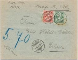 61B, 65B Nachnahmebrief Gelaufen Innerhalb ERLACH - Covers & Documents