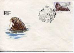 UDSSR Mi# 3916 FDC - Seals, Dolphins - 1923-1991 USSR