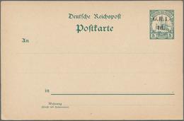 Deutsch-Neuguinea - Britische Besetzung: 1915, 5 Pf Grün Schiffszeichnung (URKARTE P 8) Mit Britisch - Colonie: Nouvelle Guinée