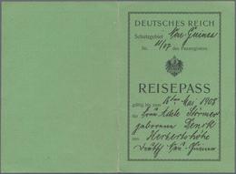 Deutsch-Neuguinea - Besonderheiten: 1907, Reisepass Des Deutschen Reiches (grünes Vordruck-Dokument) - Colonie: Nouvelle Guinée