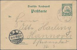 Deutsch-Neuguinea - Besonderheiten: 1908 (23.8.), 5 Pfg. GA-Karte Des Ethnographen Dr. Georg Frieder - Colonie: Nouvelle Guinée