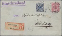 Deutsche Kolonien - Marianen - Mitläufer: 1900, Ganzsachenumschlag 10 Pfg. Krone/Adler Mit Zusatzfra - Colonie: Mariannes