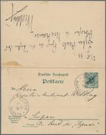 Deutsche Kolonien - Marianen - Ganzsachen: 1899, Doppelkarte 5 Pfg.+5 Pfg. Aufdruck Zusammenhängend, - Colonie: Mariannes