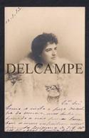 REAL PHOTO POSTCARD PORTUGAL RAINHA REINA QUEEN D.AMÉLIA DE ORLEÃES - CIRCULADO EM 1903 PARA A FIGUEIRA DA FOZ - Autres