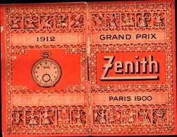 94361) CALENDARIETTO DEL 1912-GRAN PRIX ZENITH-PARIS 1900 - Tamaño Pequeño : 1901-20